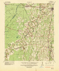 Alto Louisiana Historical topographic map, 1:62500 scale, 15 X 15 Minute, Year 1935