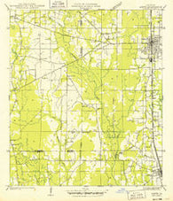 Amite Louisiana Historical topographic map, 1:31680 scale, 7.5 X 7.5 Minute, Year 1949