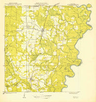 Angie Louisiana Historical topographic map, 1:31680 scale, 7.5 X 7.5 Minute, Year 1949