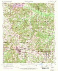 Arcadia Louisiana Historical topographic map, 1:62500 scale, 15 X 15 Minute, Year 1950