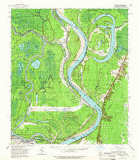 Artonish Mississippi Historical topographic map, 1:62500 scale, 15 X 15 Minute, Year 1954