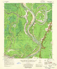 Artonish Mississippi Historical topographic map, 1:62500 scale, 15 X 15 Minute, Year 1955