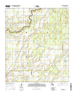 Baskinton Louisiana Current topographic map, 1:24000 scale, 7.5 X 7.5 Minute, Year 2015 from Louisiana Map Store