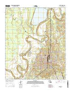 Bastrop Louisiana Current topographic map, 1:24000 scale, 7.5 X 7.5 Minute, Year 2015 from Louisiana Map Store