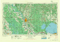 Baton Rouge Louisiana Historical topographic map, 1:250000 scale, 1 X 2 Degree, Year 1956