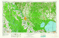 Baton Rouge Louisiana Historical topographic map, 1:250000 scale, 1 X 2 Degree, Year 1962