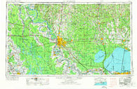 Baton Rouge Louisiana Historical topographic map, 1:250000 scale, 1 X 2 Degree, Year 1954
