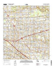Baton Rouge East Louisiana Current topographic map, 1:24000 scale, 7.5 X 7.5 Minute, Year 2015 from Louisiana Maps Store