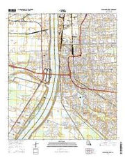 Baton Rouge West Louisiana Current topographic map, 1:24000 scale, 7.5 X 7.5 Minute, Year 2015 from Louisiana Maps Store