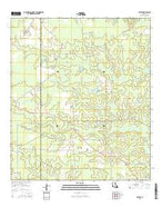 Beaver Louisiana Current topographic map, 1:24000 scale, 7.5 X 7.5 Minute, Year 2015 from Louisiana Map Store