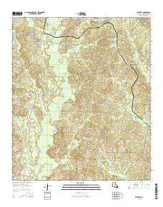 Bienville Louisiana Current topographic map, 1:24000 scale, 7.5 X 7.5 Minute, Year 2015 from Louisiana Maps Store