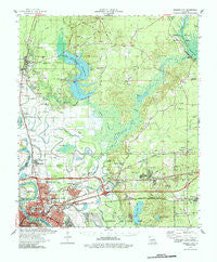 Bossier City Louisiana Historical topographic map, 1:62500 scale, 15 X 15 Minute, Year 1978