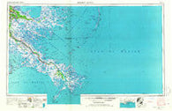 Breton Sound Louisiana Historical topographic map, 1:250000 scale, 1 X 2 Degree, Year 1957