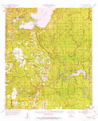 Buckeye Louisiana Historical topographic map, 1:62500 scale, 15 X 15 Minute, Year 1959