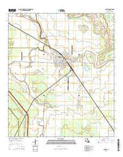 Bunkie Louisiana Current topographic map, 1:24000 scale, 7.5 X 7.5 Minute, Year 2015 from Louisiana Maps Store