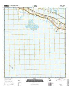 Buras Louisiana Current topographic map, 1:24000 scale, 7.5 X 7.5 Minute, Year 2015