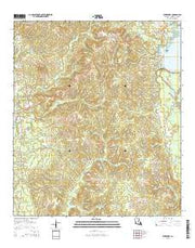 Burr Ferry Louisiana Current topographic map, 1:24000 scale, 7.5 X 7.5 Minute, Year 2015 from Louisiana Maps Store