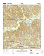 Calhoun Louisiana Current topographic map, 1:24000 scale, 7.5 X 7.5 Minute, Year 2015 from Louisiana Map Store