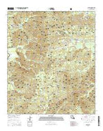 Calvin Louisiana Current topographic map, 1:24000 scale, 7.5 X 7.5 Minute, Year 2015 from Louisiana Map Store