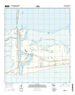 Cameron Louisiana Current topographic map, 1:24000 scale, 7.5 X 7.5 Minute, Year 2015 from Louisiana Map Store