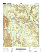 Carterville Louisiana Current topographic map, 1:24000 scale, 7.5 X 7.5 Minute, Year 2015 from Louisiana Map Store