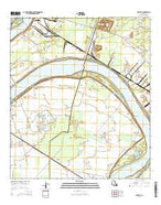Carville Louisiana Current topographic map, 1:24000 scale, 7.5 X 7.5 Minute, Year 2015 from Louisiana Map Store