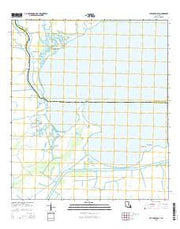 Catahoula Bay Louisiana Current topographic map, 1:24000 scale, 7.5 X 7.5 Minute, Year 2015 from Louisiana Maps Store