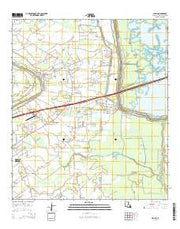 Cecilia Louisiana Current topographic map, 1:24000 scale, 7.5 X 7.5 Minute, Year 2015 from Louisiana Maps Store