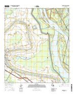 Centerville Louisiana Current topographic map, 1:24000 scale, 7.5 X 7.5 Minute, Year 2015 from Louisiana Map Store