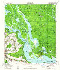 Centerville Louisiana Historical topographic map, 1:62500 scale, 15 X 15 Minute, Year 1959