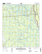 Centerville NE Louisiana Current topographic map, 1:24000 scale, 7.5 X 7.5 Minute, Year 2015 from Louisiana Map Store