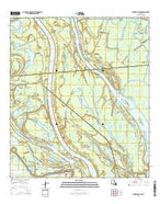 Centerville NW Louisiana Current topographic map, 1:24000 scale, 7.5 X 7.5 Minute, Year 2015 from Louisiana Map Store