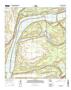 Chamblee Louisiana Current topographic map, 1:24000 scale, 7.5 X 7.5 Minute, Year 2015 from Louisiana Map Store