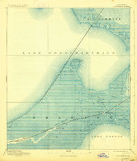 Chef Menteur Louisiana Historical topographic map, 1:62500 scale, 15 X 15 Minute, Year 1892