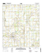 Church Point Louisiana Current topographic map, 1:24000 scale, 7.5 X 7.5 Minute, Year 2015 from Louisiana Maps Store