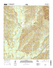 Clark Louisiana Current topographic map, 1:24000 scale, 7.5 X 7.5 Minute, Year 2015 from Louisiana Maps Store