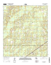 Clark Hollow Louisiana Current topographic map, 1:24000 scale, 7.5 X 7.5 Minute, Year 2015 from Louisiana Maps Store
