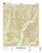 Clay Louisiana Current topographic map, 1:24000 scale, 7.5 X 7.5 Minute, Year 2015 from Louisiana Maps Store