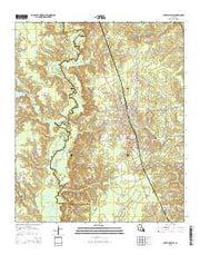 Cotton Valley Louisiana Current topographic map, 1:24000 scale, 7.5 X 7.5 Minute, Year 2015 from Louisiana Maps Store