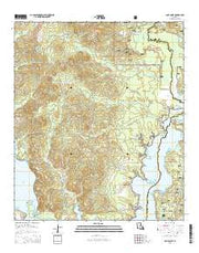 Coup Point Louisiana Current topographic map, 1:24000 scale, 7.5 X 7.5 Minute, Year 2015 from Louisiana Maps Store