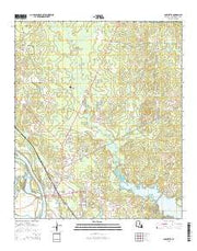 Coushatta Louisiana Current topographic map, 1:24000 scale, 7.5 X 7.5 Minute, Year 2015 from Louisiana Maps Store