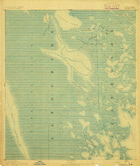 Creole Louisiana Historical topographic map, 1:62500 scale, 15 X 15 Minute, Year 1892