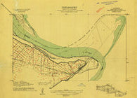 Delta Point Mississippi Historical topographic map, 1:24000 scale, 7.5 X 7.5 Minute, Year 1909