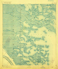 Dime Louisiana Historical topographic map, 1:62500 scale, 15 X 15 Minute, Year 1893
