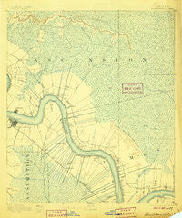 Donaldsonville Louisiana Historical topographic map, 1:62500 scale, 15 X 15 Minute, Year 1892