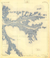 East Delta Louisiana Historical topographic map, 1:62500 scale, 15 X 15 Minute, Year 1893
