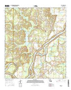 Effie Louisiana Current topographic map, 1:24000 scale, 7.5 X 7.5 Minute, Year 2015 from Louisiana Map Store