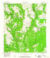 Elizabeth Louisiana Historical topographic map, 1:62500 scale, 15 X 15 Minute, Year 1959