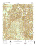 Eros Louisiana Current topographic map, 1:24000 scale, 7.5 X 7.5 Minute, Year 2015 from Louisiana Map Store