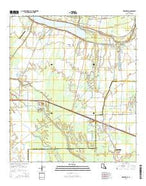 Erwinville Louisiana Current topographic map, 1:24000 scale, 7.5 X 7.5 Minute, Year 2015 from Louisiana Map Store